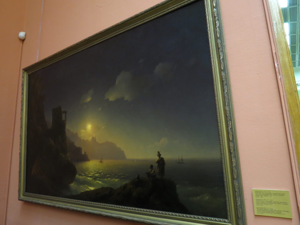 Лунная ночь в Амальфи с группою бандитов, среди которых Сальватор Роза пишет с натуры окрестный пейзаж. 1845 (холст, масло)