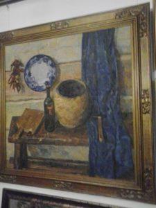 Натюрморт с синей тарелкой