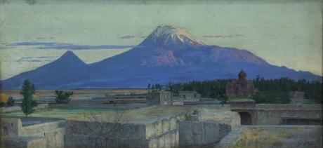 Гора Арарат со стороны Эчмиадзина (1895)