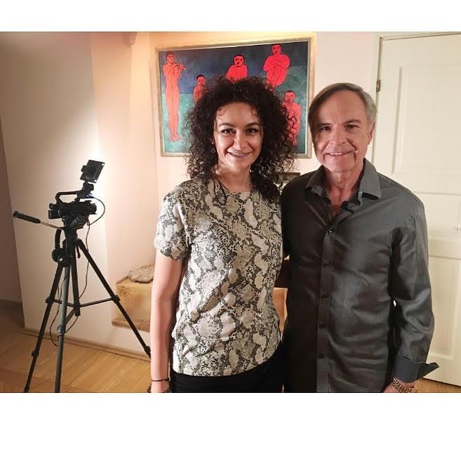 Корреспондент Сюзанна Степанян с Родионом Нахапетовым.