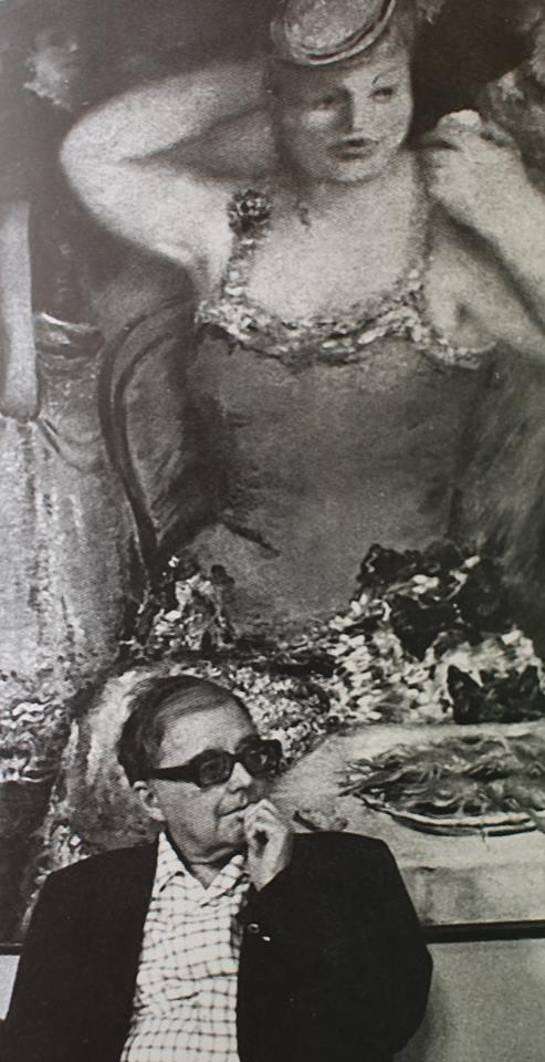 Д.Шостакович рядом с картиной Вильямса, 1980 г.