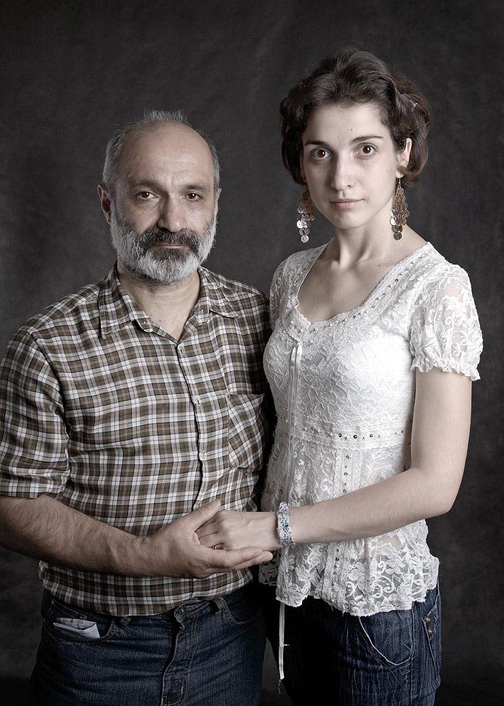 С дочерью Заруи.